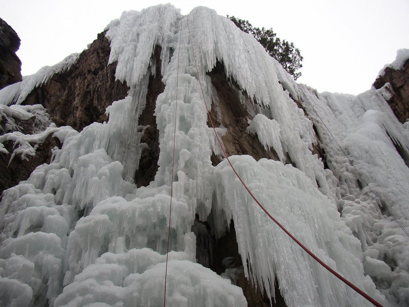 8-Feb-2009: Popsicle (WI5), Ouray Ice Park