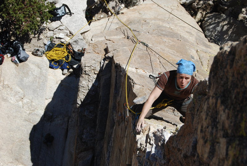 Rock Climbing Photo: Sophie working hard for the redpoint on Steve's Ar...