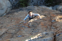 Rock Climbing Photo: Working through the middle section on Arizona Flyw...