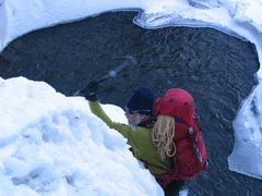 Rock Climbing Photo: Approach falls.