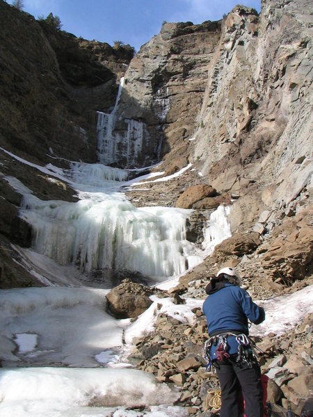 Rock Climbing Photo: Getting ready to go up Tryptych drainage with Host...