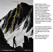 Rock Climbing Photo: Great photo by Dave Jenson, the first ascentionist...
