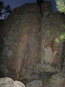 Rock Climbing Photo: Fun routes, the left side is the top out to anothe...