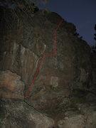 Rock Climbing Photo: Fun highball, not really that hard.