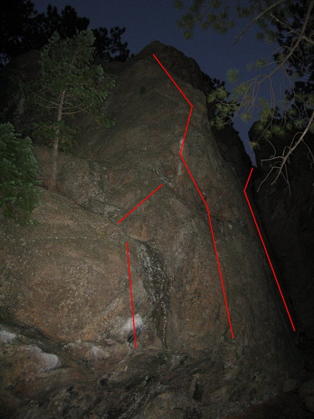 Rock Climbing Photo: Fun highball, start either way. There is also a to...