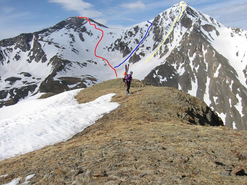 Rock Climbing Photo: GRAYS & TORREYS Denver  First ski one of the 14ers...