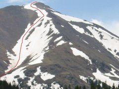 Rock Climbing Photo: Kelso's couloir from I-70.  Actually this mountain...