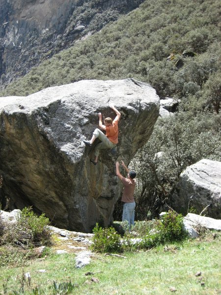 Ethan on Windshield Wiper V4. (Left arete is The Sting V8-)