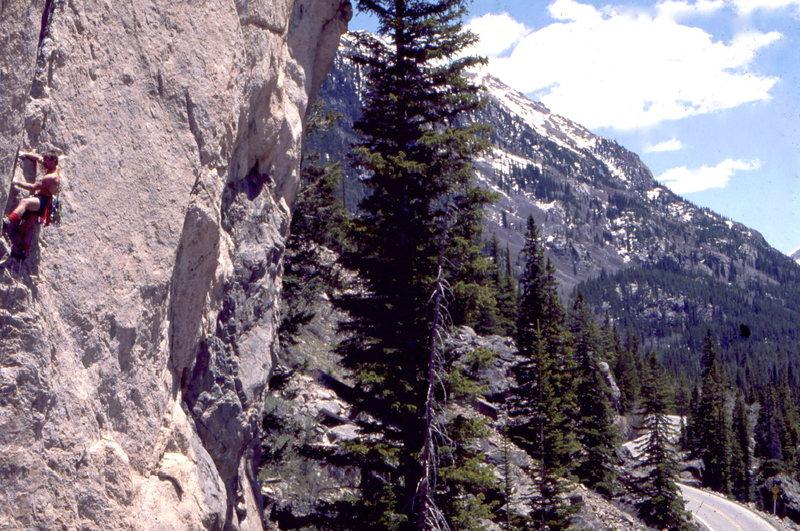 Rock Climbing Photo: Steve Mestdagh on Cryogenics, Independence Pass, p...