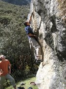 """Rock Climbing Photo: Baby Hands on """"Gringos y Chinos"""" V6"""
