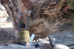 Rock Climbing Photo: The sit start.