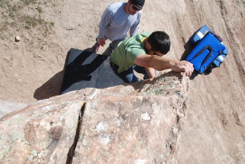 Rock Climbing Photo: Just warming up at Bone Park.