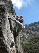 "Rock Climbing Photo: Josh on ""Gringos y Chinos"" V6"