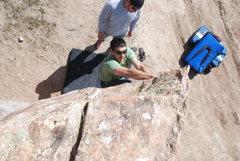 Rock Climbing Photo: Just messing around.