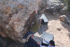 Rock Climbing Photo: On the Victoria's Secret Boulder within Bone Park.