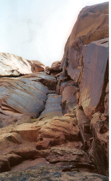 Rock Climbing Photo: Kister Twister is the left facing corner on the ri...