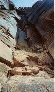 Rock Climbing Photo: Jason on the 1st ascent.