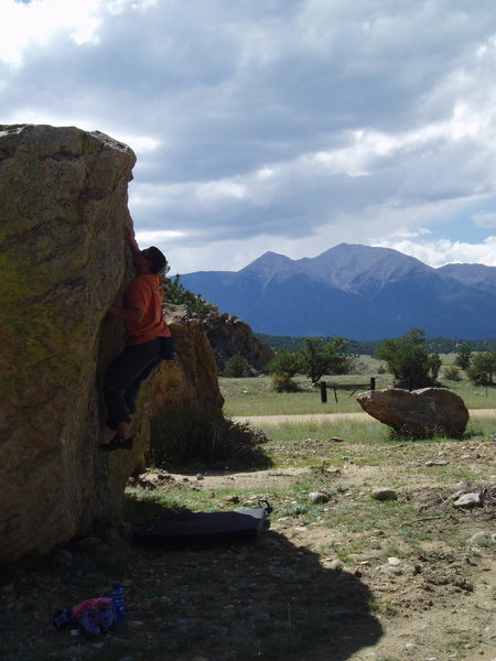 Rock Climbing Photo: Sweet view while bouldering.