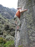 "Rock Climbing Photo: Ethan on ""Sun Stroked"" V3"