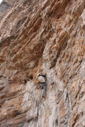 Rock Climbing Photo: Good view of most of the route.  Andrew Haag climb...