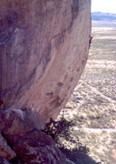 Rock Climbing Photo: Reaching the headwall on Legends. The start begins...