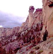 Rock Climbing Photo: Monkey Face Pinnacle, Smith Rocks.