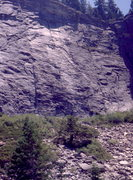 Rock Climbing Photo: Lover's Leap Area, and The Line Route which follow...