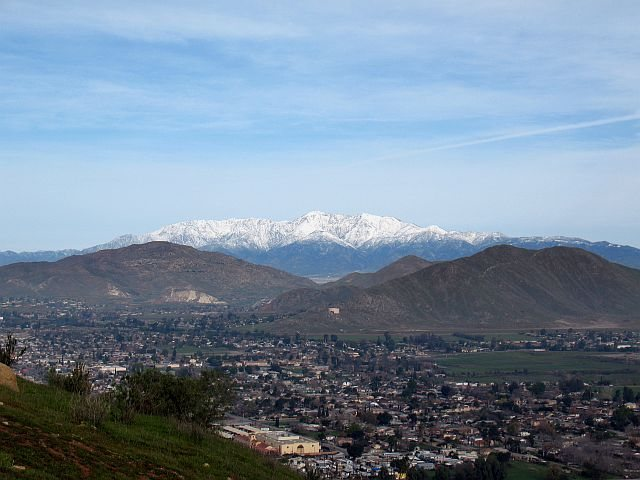 Rock Climbing Photo: Snow-covered San Gabriel Mountains, Mount Rubidoux