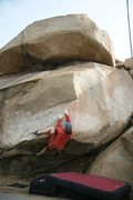 Rock Climbing Photo: Starting the crux moves up the arete on the Beach ...