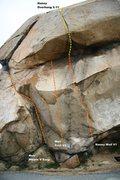 Rock Climbing Photo: Beach Boulder Center Topo