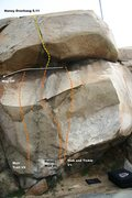 Rock Climbing Photo: Beach Boulder Right Topo