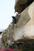 Rock Climbing Photo: Using the undercling and making the move up on Sla...