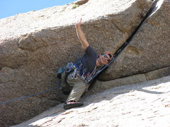Rock Climbing Photo: Barry with first cam in on roof