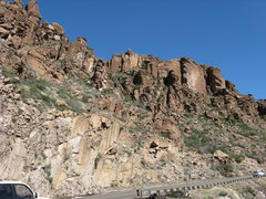 Rock Climbing Photo: Queen Creek, Ponds area from Hwy 60