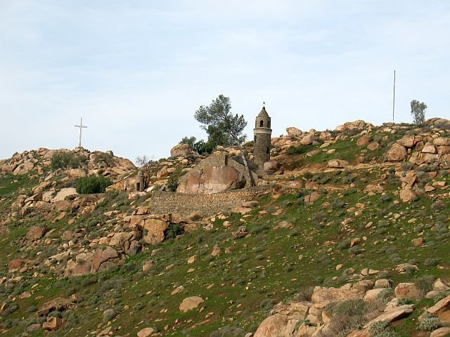 The Beehive Wall and it's distinctive stone wall, Mt. Rubidoux