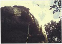 Rock Climbing Photo: FF/A Off The Shoulder, '85.