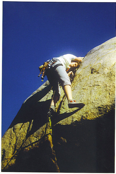 Rock Climbing Photo: FF/A of Worsman's Roof, Feb. '87. You can see my l...