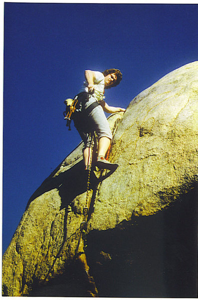 Rock Climbing Photo: FF/A of Worsman's Roof, Feb. '87