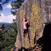 Great bouldering at the Sacred Cliffs, photo: Bob Horan Collection.