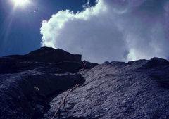 Rock Climbing Photo: A new route on Pingora, circa 1982, photo: Bob Hor...