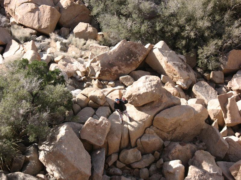 Rock Climbing Photo: My dad waiting to climb at the bottom of Dappled M...