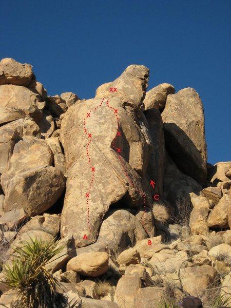 Rock Climbing Photo: NEGROPOLIS, FAR RIGHT  A. B For Beers 5.10b  B. Lo...