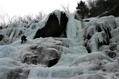 Rock Climbing Photo: Tim on standard...