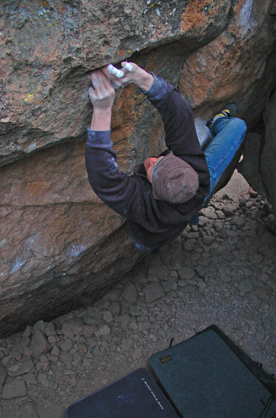 Rock Climbing Photo: Nate Bowe on 'Los Locos' v7