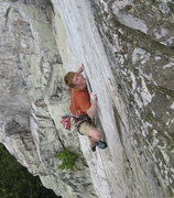 Rock Climbing Photo: Crimping up on the headwall