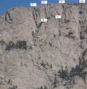 Rock Climbing Photo: Here are some obvious lines around the top of Stan...