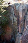 Rock Climbing Photo: Atop Burbon Street-M6+.