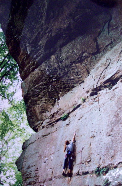 Rock Climbing Photo: Katie Brown on the sheer slab portion, photo: Bob ...