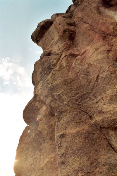 Rock Climbing Photo: High Test (12-) on the Forbidden Fruit Formation a...