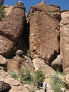 Rock Climbing Photo: Sappy Love Song on center Right rock face (Fat Boy...